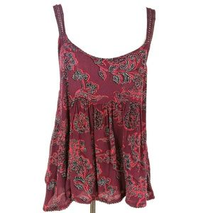 Loose Fitting Gauze and Lace Bohemian Tank